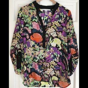 DVF floral print blouse